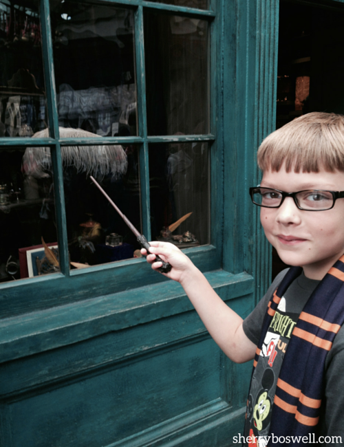 Interactive wand fun at Diagon alley