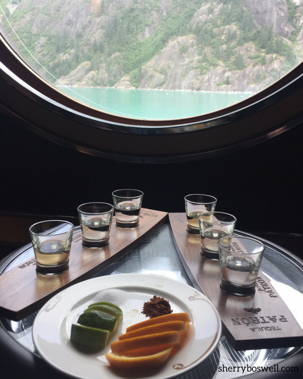 Alaska cruise tips for a tequila tasting.