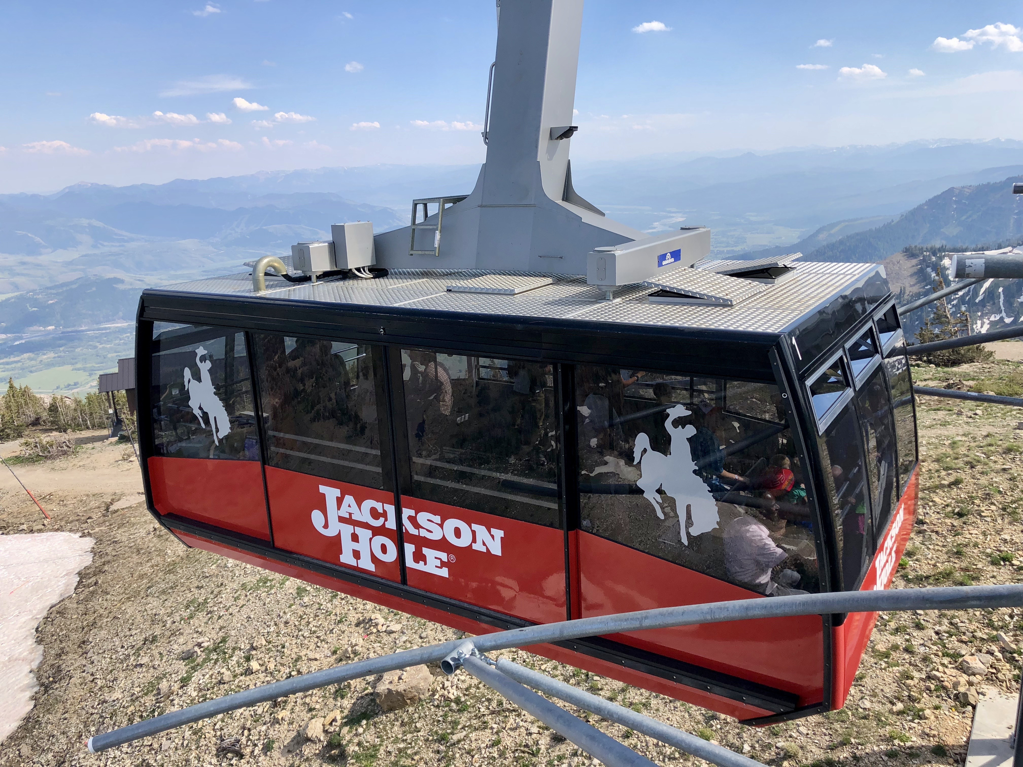 The Jackson Hole aerial tram is worth taking a ride on; access is at Teton Village in Jackson Hole, Wyoming.